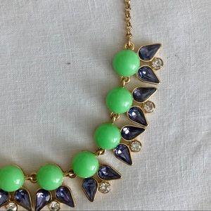 JCrew Green & White Beaded Necklace